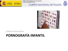 PORNOGRAFÍA INFANTIL - Inicio