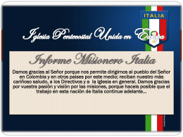 Iglesia Pentecostal Unida en Europa Italia.