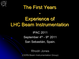 LHC Beam Instrumentation - First Results & Next