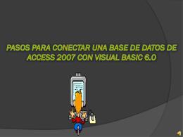 Pasos para conectar una base de datos de Access