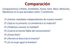 Comparación - MisFilosofias