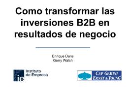 Transformar las inversiones B2B en resultados