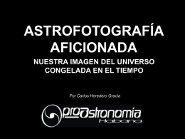 Diapositiva 1 - ProAstronomía