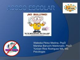 Acoso escolar - Alma Facilitadora TS Arecibo