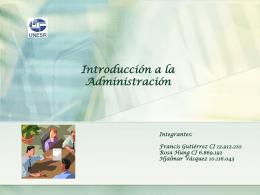 Diapositiva 1 - Administración