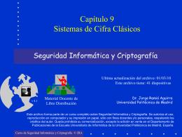Sistemas de Cifra Clásicos