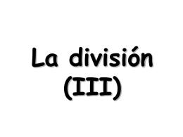 La división (II)