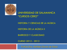 Universidad de salamanca Cursos cero historia de