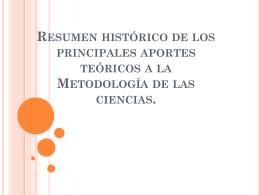 Historia de la Metodología.