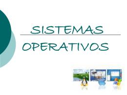 SISTEMAS OPERATIVOS - A de Tecnologías de la