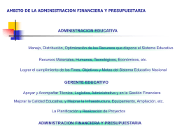 AMBITO DE LA ADMINISTRCION FINANCIERA Y