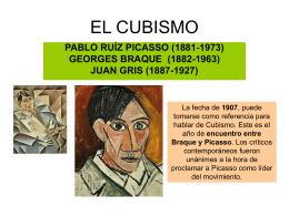 EL CUBISMO - Tareas y Notas