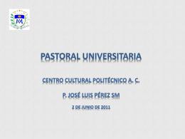 Diapositiva 1 - Coordinación de Pastoral Urbana