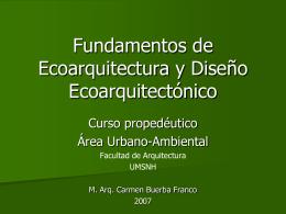 Fundamentos de Ecoarquitectura y Diseño