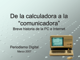 Historia de Internet y la Web - red