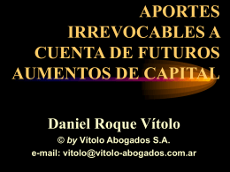 APORTES IRREVOCABLES A CUENTA DE FUTUROS …