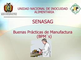BUENAS PRACTICAS DE MANUFACTURA: BPM's
