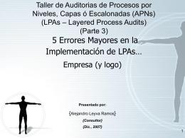 Parte 3 - LPAs - Auto Consulting