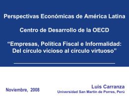 Estructura del mercado laboral peruano - OECD.org