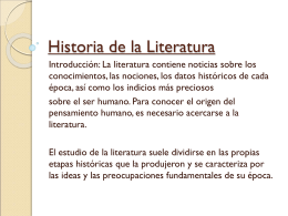 Historia de la Literatura - AWS | Amazon Simple Storage
