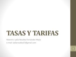 TASAS Y TARIFAS