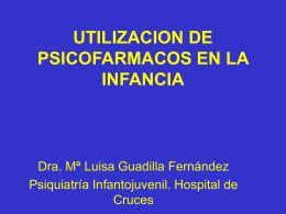 UTILIZACION DE PSICOFARMACOS EN PEDIATRIA