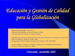 GESTION DE CALIDAD TOTAL EN EDUCACION