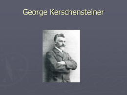 George Kerschensteiner - Universidad de Castilla