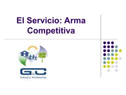 El Servicio: Arma Competitiva