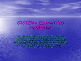 SISTEMA EDUCATIVO NACIONAL - JoHaNaGaMbA