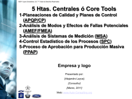 5 Core Tools - Auto Consulting