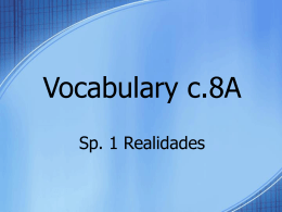 Vocabulary c.7A