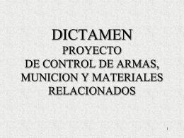 LEY MARCO DE ARMAS DE FUEGO, MUNICIONES Y …
