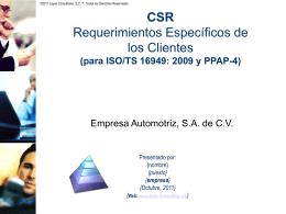 ISO 9001: 2008 e ISO/TS 16949: 2009