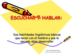ESCUCHAR Y HABLAR: - Portal RMM