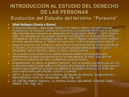 INTRODUCCION AL DERECHO DE LAS PERSONAS