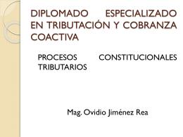 LOS PROCESOS CONSTITUCIONALES EN MATERIA …
