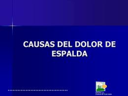 CAUSAS DE DOLOR DE ESPALDA