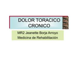 DOLOR CRONICO TORACICO