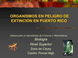 organismos en peligro de extincion