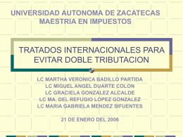 TRATADOS INTERNACIONALES PARA EVITAR DOBLE …