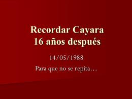 Recordar Cayara
