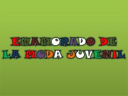 ENAMORADO DE LA MODA JUVENIL