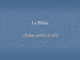 La Biblia - Purpose People