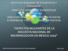 Encuesta Nacional de Micronegocios