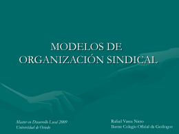 EL SINDICALISMO - Universidad de Oviedo