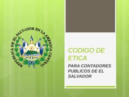 CODIGO DE ETICA - CONTABILIDADFINANCIERAICI2013