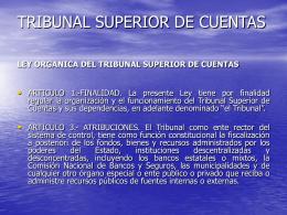 TRIBUNAL SUPERIOR DE CUENTAS