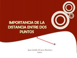 IMPORTANCIA DE LA DISTANCIA ENTRE DOS PUNTOS