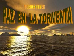 PAZ EN LA TORMENTA